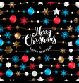 background with christmas logo vector image vector image