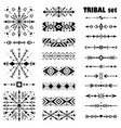 black-and-white brush set in tribal style vector image vector image
