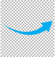blue arrow icon on transparent background flat vector image vector image