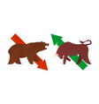 bull and bear market vector image