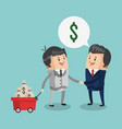 business teamwork with money bags vector image vector image