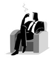 businessman sitting comfortable in sofa while vector image vector image