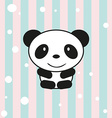 cartoon little panda vector image