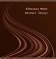 chocolate swirl waye background dark brown vector image vector image