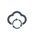 cloud data sync refresh icon for apps and vector image vector image