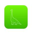 diplodocus icon green vector image