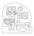 doctor coloring page vector image vector image