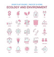 ecology and enviroment icon dusky flat color vector image