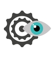 eye view security system icon vector image vector image