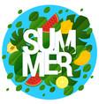 flat design summer template vector image vector image