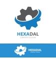 Gear logo design Technology symbol or icon vector image vector image