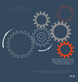 gear relationship for business concepts vector image