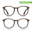 glasses classic glasses vintage style vector image vector image