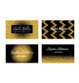 Golden Business Cards vector image