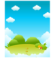 Green landscape and blue sky vector image vector image