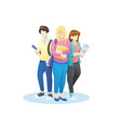 group students with books vector image vector image