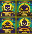 Halloween Posters set vector image vector image