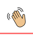 hand wave icon for web or mobile app vector image vector image