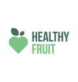 healthy fruit symbol logo icon label vector image