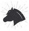 horse head silhouette in retro style sign vector image
