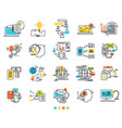 icons for e-business engineering idea vector image vector image