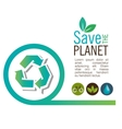 Info graphic recycle ecological icon design vector image