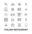 italian restaurant kitchen spaghetti sea food vector image vector image
