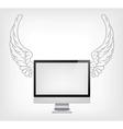 Laptop PC vector image