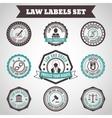 Law labels set vector image vector image