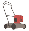 lawn mower icon grass garden mowing gardening vector image vector image