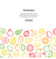 line fruits icons background colored style vector image