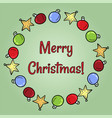 merry christmas toys frame doodles postcard vector image vector image