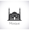 Mosque Single flat icon on white background vector image