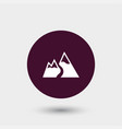mountain snow icon simple vector image