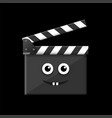 movie time clapper board vector image