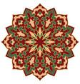 oriental floral mandala vector image vector image