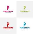 p letter logo eps file vector image