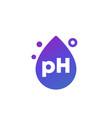 ph icon with a drop vector image vector image