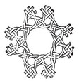 pillow-lace fancy cross stitching used to make vector image vector image
