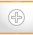 plus web flat icon vector image vector image