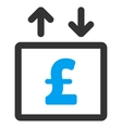 Pound Money Elevator Flat Icon Symbol vector image