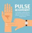 pulse measurement for medical poster vector image vector image