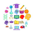 resource icons set cartoon style vector image vector image