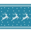 Seamless knitted pattern with deers vector image vector image