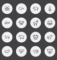 set of 16 editable zoo icons line style includes vector image