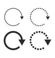 set of black circular arrows vector image vector image