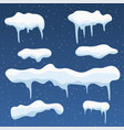 snowball and snowdrift vector image