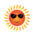 Summer sun character icon