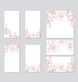 template for wedding cards invitation vector image