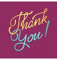 Thank You Hand lettering handmade vector image vector image